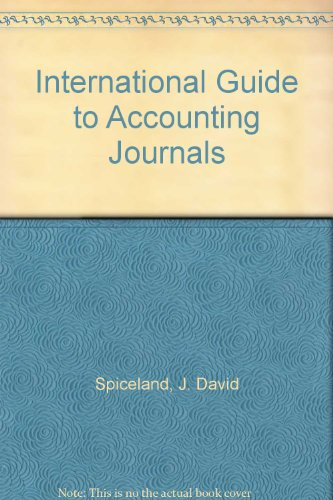 International Guide to Accounting Journals: Spiceland, J. David,