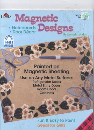 Magnetic Designs Painted on Magnetic Sheeting: Pamela Bialas
