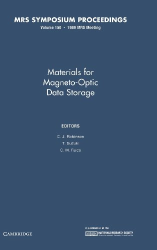 9781558990234: Materials for Magneto-Optic Data Storage: Volume 150 (MRS Proceedings)