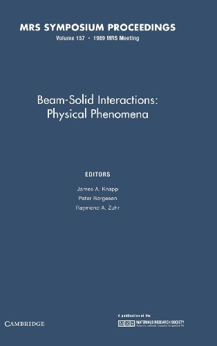 Beam-Solid Interactions:: Volume 157: Physical Phenomena (MRS: James A. Knapp,