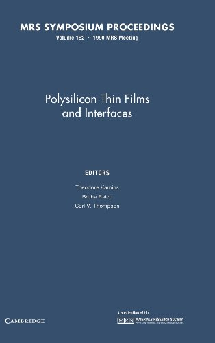 9781558990715: Polysilicon Thin Films and Interfaces: Volume 182 (MRS Proceedings)