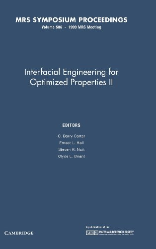 9781558994942: Interfacial Engineering for Optimized Properties II: Volume 586 (MRS Proceedings)