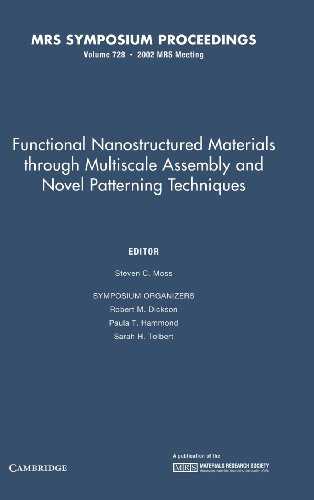 9781558996649: Functional Nanostructured Materials through Multiscale Assembly and Novel Patterning Techniques: Volume 728 (MRS Proceedings)