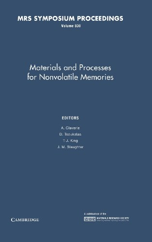 9781558997783: Materials and Processes for Nonvolatile Memories: Volume 830 (MRS Proceedings)