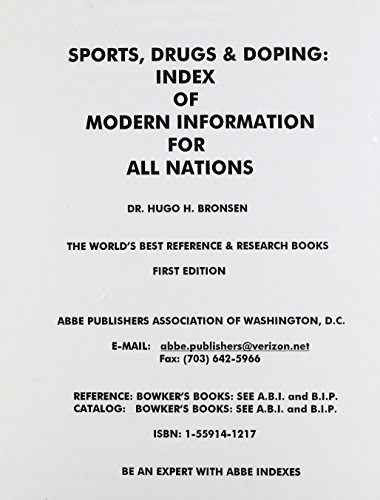 9781559141277: Sports, Drugs, and Doping: Index of Modern Information