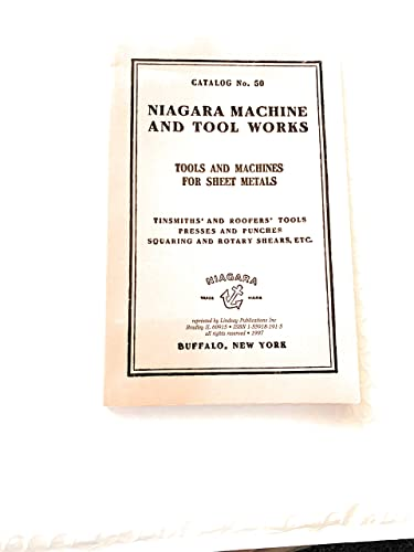 Niagra Machine and Tool Works Tools and: J. Lindsay