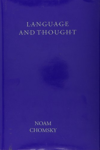 Language and Thought.; (Anshen Transdisciplinary Lectureships in Art, Science and the Philosophy ...
