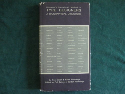 9781559210928: Rookledge's International Handbook of Type Designers: A Biographical Directory