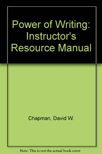 9781559341394: Power of Writing: Instructor's Resource Manual