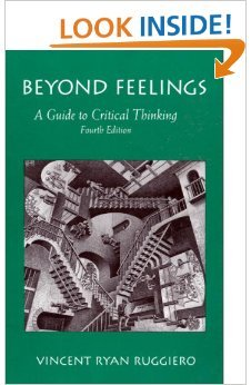 9781559343572: Beyond Feelings: A Guide to Critical Thinking