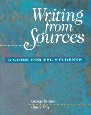 9781559344418: Writing From Sources: A Guide for ESL Students