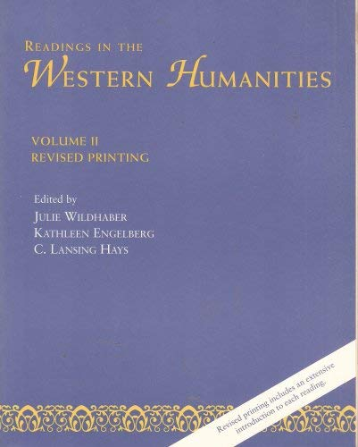 Readings in the Western Humanities, Vol. 2: Unknown