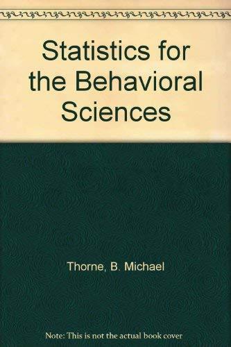 9781559348058: Statistics for the Behavioral Sciences