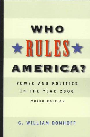 9781559349734: Who Rules America?: Power and Politics in the Year 2000