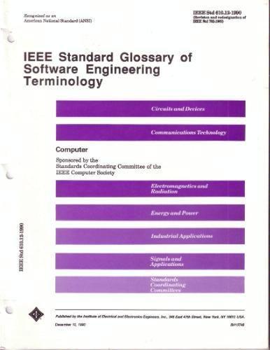 9781559370677: IEEE Standard Glossary of Software Engineering Terminology/IEEE STD 610.12-1990