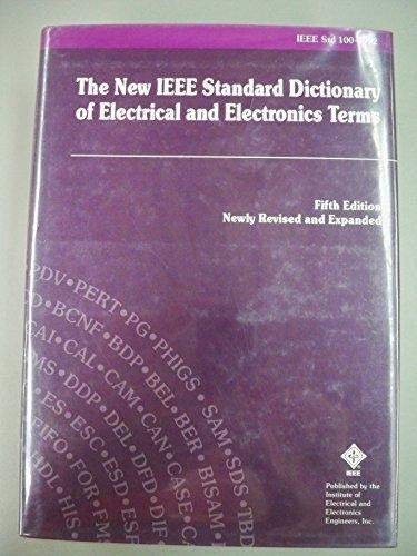 9781559372404: IEEE Std 100-1992, IEEE Standard Dictionary of Electrical and Electronics Terms