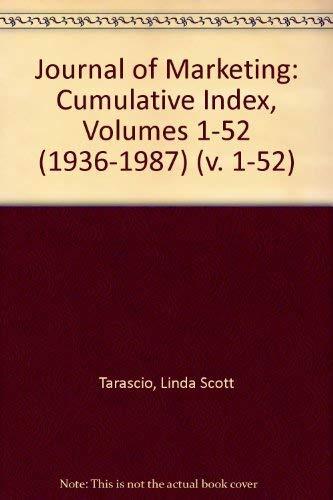 9781559380287: Journal of Marketing: Cumulative Index, Volumes 1-52 (1936-1987) (v. 1-52)