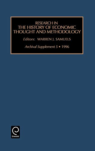 Research in the History of Economic Thought and Methodology: Archival supplement 5 (Hardback)
