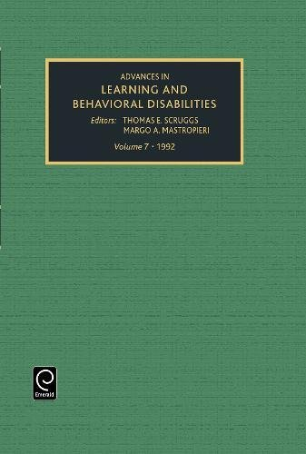9781559381963: Advances in learning and behavioral disabilities, Volume 7 (Advances in Learning & Behavioral Disabilities)