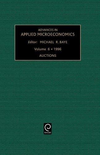 9781559382083: Advances in Applied Microeconomics: Auctions (Advances in Applied Microeconomics)
