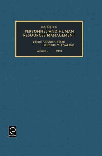 Research in personnel and human resources, Volume: FERRIS/ROWLAND