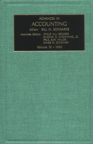 9781559384162: Advances in Accounting: 1992