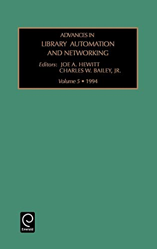 9781559385107: Advances in Library Automation and Networking: v. 5