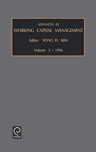 Advances in Working Capital Management (Hardback)