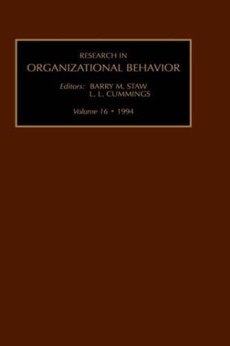 Research in Organizational Behaviour: v. 16 (Hardback)