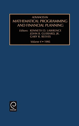 Advances in Mathematical Programming and financial planning (Hardback)