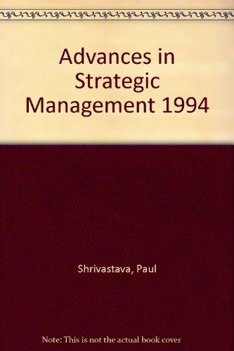 9781559387279: 10: Advances in Strategic Management 1994