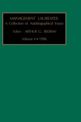 9781559387309: A Collection of Autobiographical Essays, Volume 4 (Management Laureates)