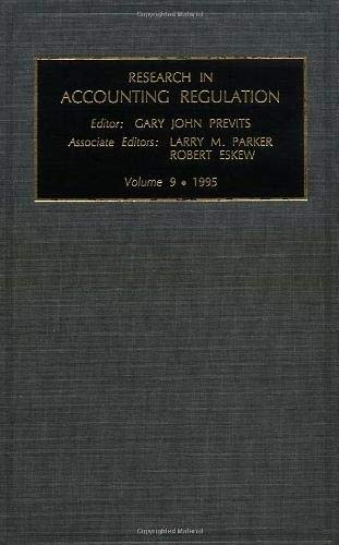 Research in Accounting Regulation: v. 9 (Hardback): Gary John Previts