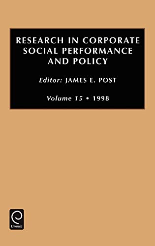 Research in Corporate Social Performance and Policy (Hardback)