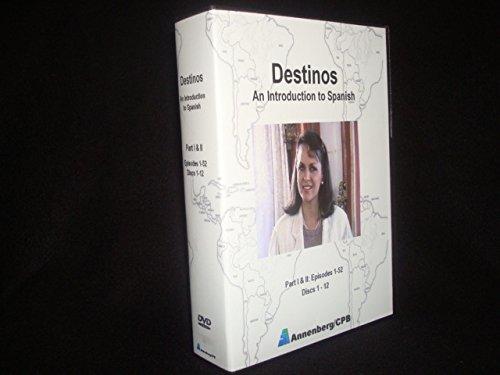 9781559465274: Destinos: An Introduction to Spanish DVD Set: Part 1 & 2 (Programs 1-52) (Discs 1-12)