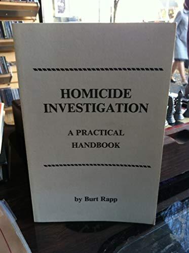 9781559500203: Homicide Investigation