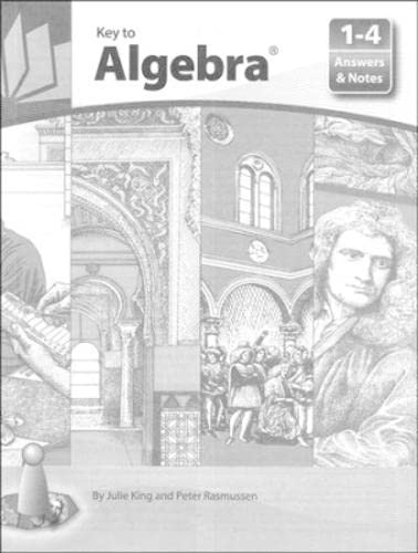 9781559530132: Key To Algebra Answers & Notes For Books 1-4