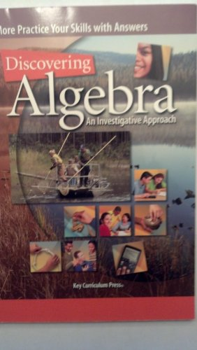 9781559535229: Discovering Algebra: More Practice Your Skills With Answers