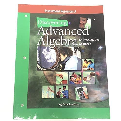9781559536103: Discovering Advanced Algebra Assessment Resources A