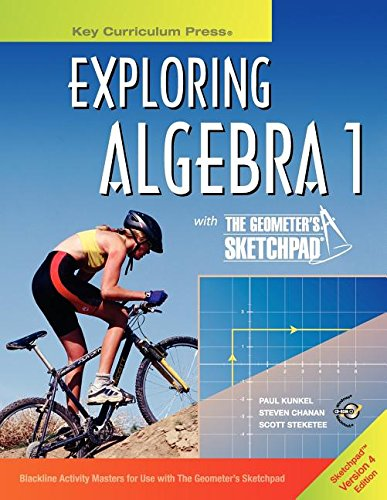 9781559537988: Exploring Algebra 1 with the Geometer's Sketchpad, Version 4