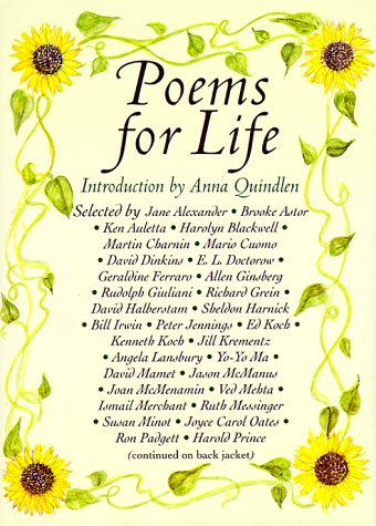 9781559702867: Poems for Life: Famous People Select Their Favorite Poem and Say Why It Inspires Them