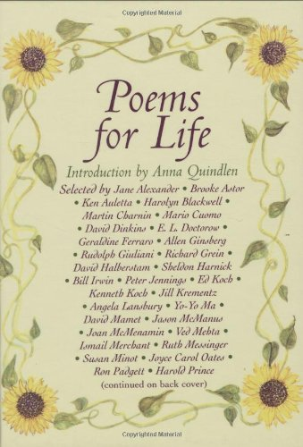 9781559707664: Poems for Life: Famous People Select Their Favorite Poem and Say Why It Inspires Them