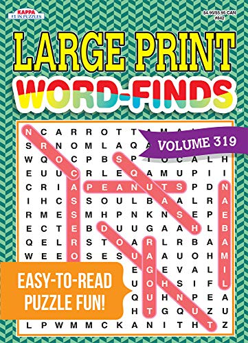 Large Print Word-Finds Puzzle Book - Volume 196: Kappa Books Publishers