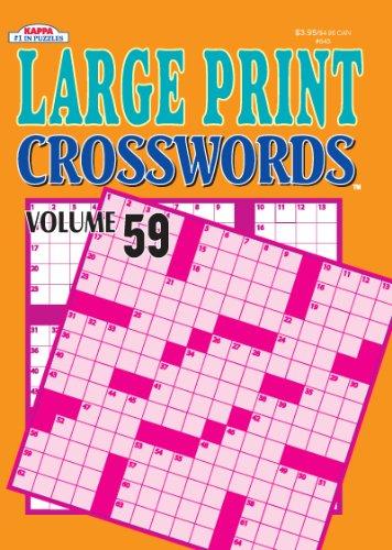9781559939430: Large Print Crosswords Volume 59