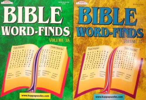 9781559939546: Bible Word-Finds Puzzle Book Set(Volume 37 & 38) (Kappa Puzzles)