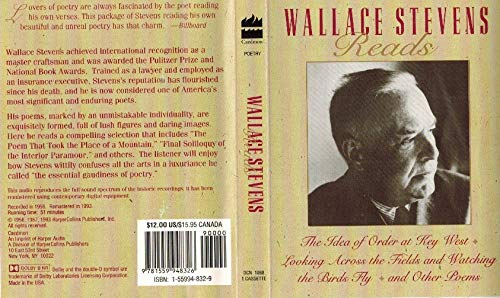 Wallace Stevens Reads: The Idea of Order: Wallace Stevens