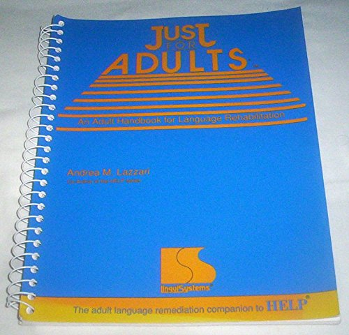 9781559991162: Just for adults: An adult handbook for language rehabilitation