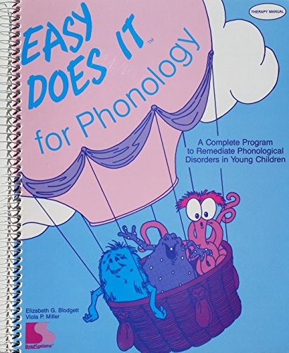 9781559998574: Easy Does It for Phonology: Therapy Manual
