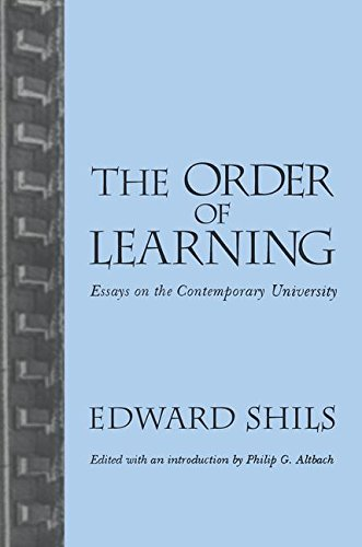 9781560002987: Order of Learning: Essays on the Contemporary University
