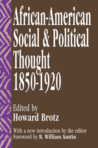9781560005636: African-American Social and Political Thought: 1850-1920